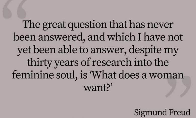 Photo of Sigmund Freud Quote – The great question…
