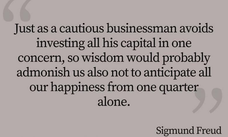 Photo of Sigmund Freud Quote – Just as a cautious businessman…